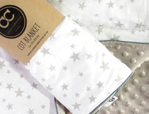 Star Baby Blanket – Minky Fleece Back