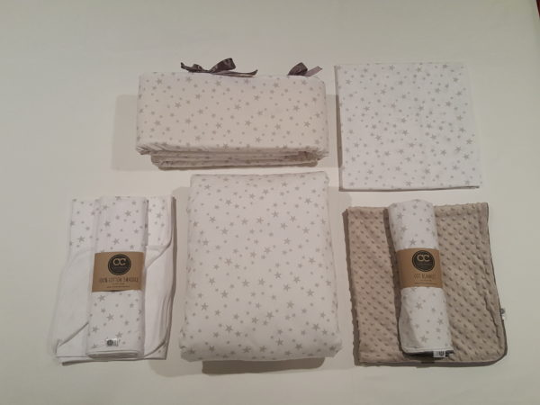 Fitted Sheet Cot Star Design