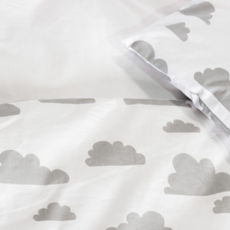 Cot Duvet Cover Set – Cloud Design