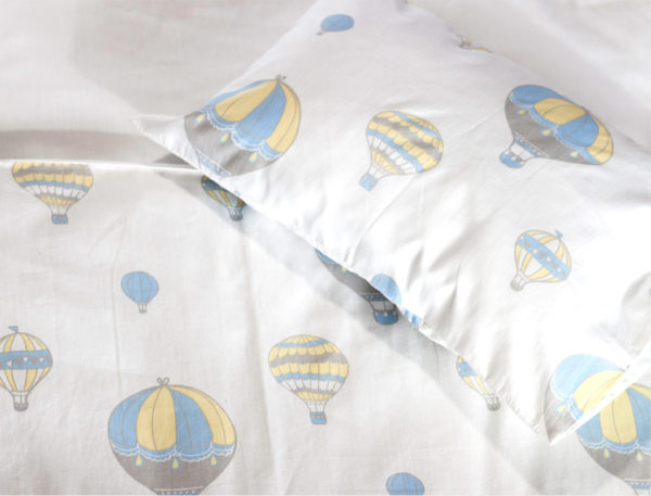 Cot duvet cover set - Hot air balloon design