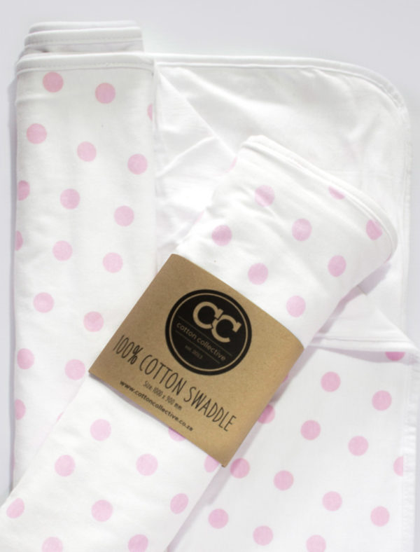 Swaddle-Blanket-Polka-Dot-Pink-Cotton-Collective-04
