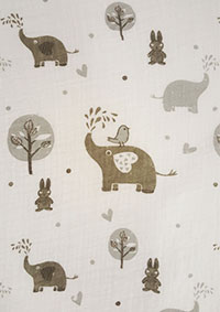 Elli & Friends muslin swaddle blanket